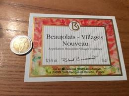 Etiquette Vin «BEAUJOLAIS VILLAGES NOUVEAU - Roland Bouchacourt - Saint-Georges-de-Reneins (69)» - Beaujolais