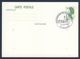 France Rep. Française 1988 Card / Karte / Carte Postale - Renovation De La Gare, Belfort / Railway Station / Bahnhof - Treinen
