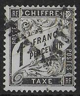 DUVAL - TAXE YVERT N°22 OBLITERE - SIGNE SCHELLER - COTE = 500 EUR. - - Taxes
