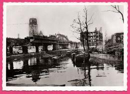 Cp Dentelée - Verwoest Rotterdam 1940 - No H. Kolk - Pont - Péniche - Ecluse - Gebr. SPANJERSBERG - SPARO - Rotterdam