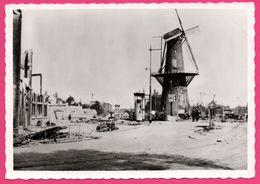 Cp Dentelée - Verwoest Rotterdam 1940 - No J Molen Oostplein - Animée - Moulin - Gebr. SPANJERSBERG - SPARO - Rotterdam