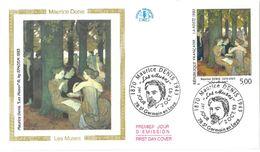 FDC Tableau De Maurice Denis : Les Muses (78 Saint Germain En Laye 02/10/1993) - FDC