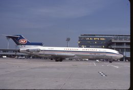 SLIDE / AVION / AIRCRAFT   KODAK  ORIGINAL      JAT  B 727  YU-AKE - Diapositives