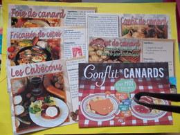 LOT DE 5 CARTES RECETTE PERIGORD DORDOGNE SUD OUEST Foie Gras Confit Canard Cabecous Cuisine KDO Maud Lalève Humour - Recettes (cuisine)