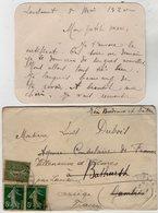 VP13.620 - 1920 - Lettre De Mme L. DUBOIS à LAVELANET Pour Mr DUBOIS à BATHURST ( Gambie ) - Récit - Manoscritti