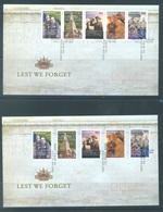 AUSTRALIA  - FDC - 1.4.2008 - LEST WE FORGET - Yv 2870-2879 BLOC 105 - Lot 18543 - Premiers Jours (FDC)