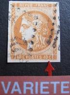 R1680/207 - CERES EMISSION DE BORDEAUX N°48 - LUXE - LGC - VARIETE ➤ Filet Sud Brisé - Cote : 160,00 € - 1870 Bordeaux Printing
