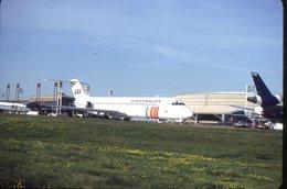 SLIDE / AVION / AIRCRAFT   KODAK  ORIGINAL     SAS  DC 9 - Diapositives