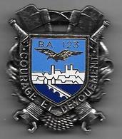 Service Sécurité Base 123  Orléans - Insigne émaillé  Arthus Bertrand - Airforce