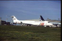 SLIDE / AVION / AIRCRAFT   KODAK  ORIGINAL     SAS  DC 9  LN-RLD - Diapositives