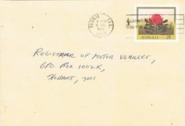 30736. Entero Postal BURNIE (Tasmania) 1982. Fleurs, Flowers. Remite PENGUIN - Enteros Postales