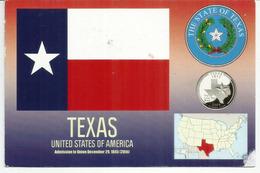 The Lone State Star. Emblème De L'Etat Du Texas, Carte Postale De Houston Adressée Andorra, Avec Timbre à Date Arrivée - Etats-Unis