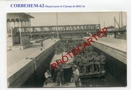 CORBEHEM-Ecluse-Depart Pour Le Cinema De Douai-Regt.121-CARTE PHOTO Allemande-Guerre 14-18-1WK-France-62-Militaria- - France