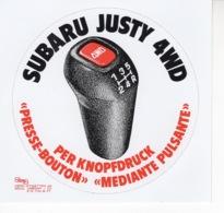 Subaru Justy 4WD - Autocollant / Adesivi / Aufkleber / Stickers - Autocollants