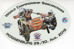 World Championship Sidecarcrosss - Moto-Club Roggenburg - Autocollant / Adesivi / Aufkleber / Stickers - Autocollants