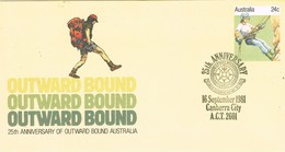 30737. Entero Postal CANBERRA City (australia) 1981. Outward Bound, Alpinismo, Montañismo - Enteros Postales