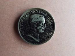 PIECE 1 LIRE.VICTTORIO EMMANUEL III. 1915 - 1861-1946 : Royaume