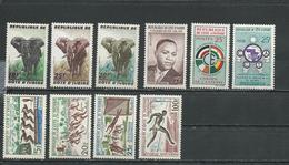 COTE IVOIRE Scott 167-9, 170, 181, 182, 193-5 C17 Yvert 177-9, 180, 191, 190, 201-3 PA21  (10) ** Cote 9,90 $ 1960 - Côte D'Ivoire (1960-...)