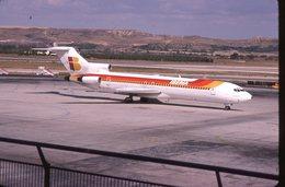 SLIDE / AVION / AIRCRAFT   KODAK  ORIGINAL     IBERIA  B 727  EC-CFC - Diapositives