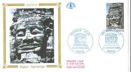 FDC Unesco Angkor Cambodge  (75 Paris 23/10/1993) - FDC