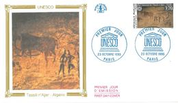 FDC Unesco Tassili N'Ajjer Algérie  (75 Paris 23/10/1993) - FDC