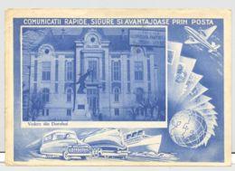 CPA DOROHOI- TOWN HALL, MONUMENT, CAR, TRAIN, SHIP, PLANE - Romania