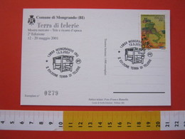 A.03 ITALIA ANNULLO - 2001 MONGRANDO BIELLA TERRA DI TELERIE TELAIO TESSILE TEXTIL LANA WOOL - Tessili