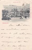 BARCELONA - CATALUNA  - ESPANA   -  3 BELLA POSTAL ANIMADA 1899. - Barcelona