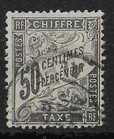 DUVAL - TAXE YVERT N°20 OBLITERE  - COTE = 240 EUR. - - 1859-1955 Used