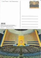 Onu,united Nations, New York ,entier Postal  2003, Carte Neuve, This Is The United Nations Illustration, Assemblée - New-York - Siège De L'ONU