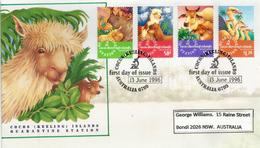 Station De Quarantaine Australienne Sur L'île COCOS-KEELING.  FDC 1996, Yv. 327/30 - Cocos (Keeling) Islands
