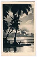 Carte - Photo -  COUCHER DE SOLEIL  à TAHITI - 3767  & - Tahiti