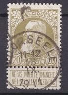 N° 75 Pli  MOORSEELE  COBA +8.00 - 1905 Grosse Barbe