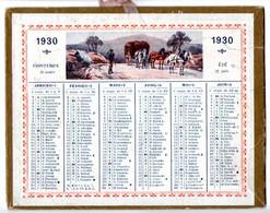 Petit Calendrier Cartonné 1930. Images Champêtres. - Petit Format : 1921-40