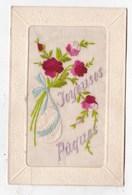 Carte Postale Joyeuses Pâques Carte Brodée - Easter