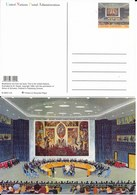 Onu,united Nations, New York ,entier Postal  2003, Carte Neuve, This Is The United Nations Illustration,salle Du Conseil - New-York - Siège De L'ONU