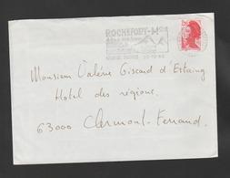 Flamme Dpt 63 : ROCHEFORT-MONTAGNE (SCOTEM N°  7737 émise Le 26/03/1986)  Nature & Air Pur - Eté - Hiver: - Poststempel (Briefe)