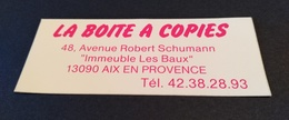 AUTOCOLLANT COMMERCE LA BOITE A COPIES AIX EN PROVENCE - Autocollants
