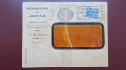 Lettre Messageries De Journaux N° 257 Perforé HM 53 ( Catalogue Ancoper ) Retour Envoyeur Chaumont Haute Marne - France