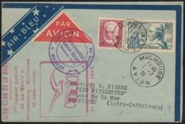 """1ère Liaison Aérienne Air-Bleu """"Mulhouse-Strasbourg-La Baule"""" 1er Juillet 1936 - Poste Aérienne"""