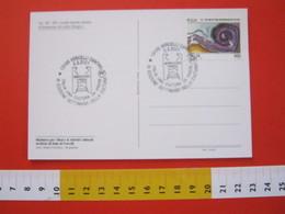 A.03 ITALIA ANNULLO - 2001 VERCELLI ARCHIVIO DI STATO SETTIMANA DELLA CULTURA DA VIVERE CARD CODICE MINIATO - Idioma