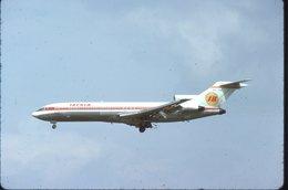 SLIDE / AVION / AIRCRAFT   KODAK  ORIGINAL    IBERIA  B 727  EC-CBF - Diapositives