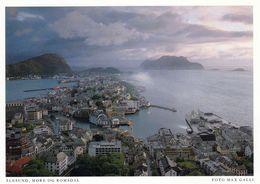 1 AK Norwegen * Blick Auf Die Stadt Ålesund - Luftbildaufnahme - Eine Karte Aus Dem Harenberg Kalender * - Norwegen