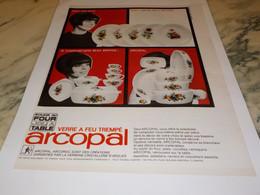 ANCIENNE PUBLICITE SOLIDE AU FOUR JOLI A TABLE ARCOPAL 1965 - Autres