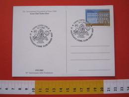 A.0 ITALIA ANNULLO - 2002 TORINO 50° LIONS CLUB TORINO HOST IN PIEMONTE CARD GAGLIARDETTO - Rotary, Lions Club