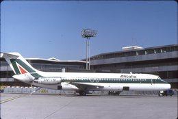SLIDE / AVION / AIRCRAFT   KODAK  ORIGINAL   ALITALIA  DC 9  I-DIKC - Diapositives