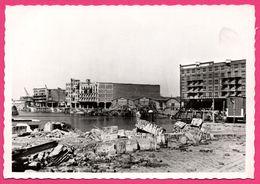 Cp Dentelée - Verwoest Rotterdam 1940 - No I Rijn Haven Veemen - Port - Gebr. SPANJERSBERG - SPARO - Rotterdam