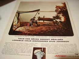 ANCIENNE PUBLICITE MOTEUR BATEAU JOHNSON 1965 - Bateaux