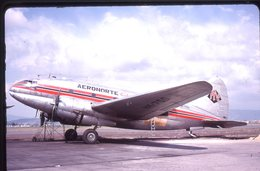 SLIDE / AVION / AIRCRAFT   KODAK  ORIGINAL   AERONORTE COLOMBIA  C 46  HK-750 - Diapositives