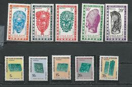 COTE IVOIRE Scott J24-J28, J29-J33 Yvert Taxe 24-28, 29-33  (10) * Cote 7,40 $ 1962-8 - Côte D'Ivoire (1960-...)